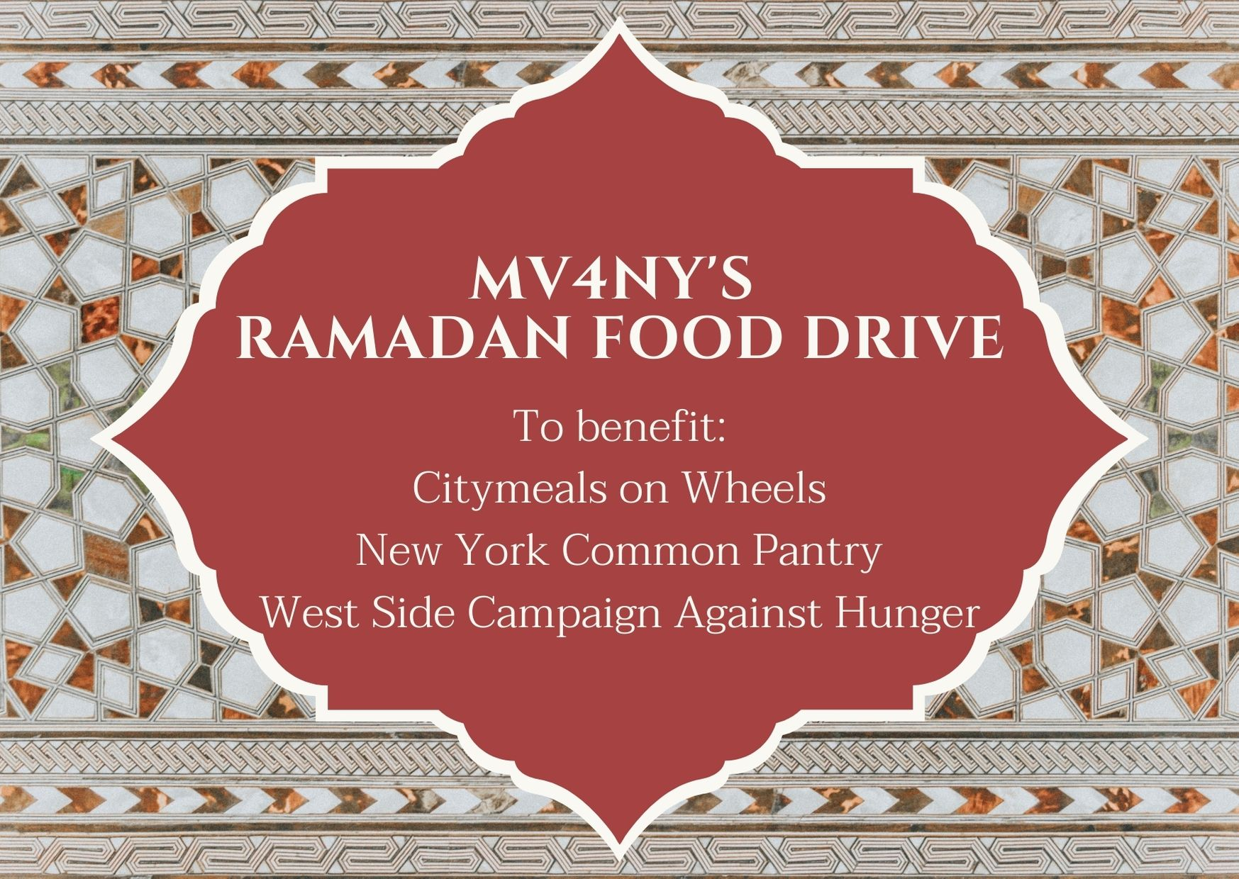 Muslim Volunteers for New York Donation Form